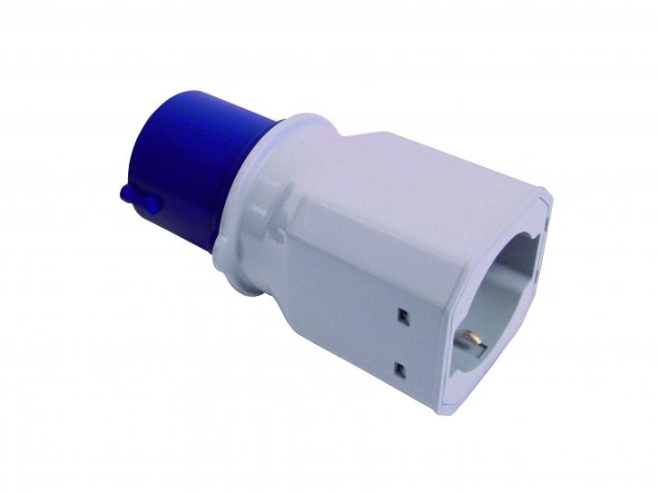Adapter CEE Stecker - Schuko Dose , 230 Volt