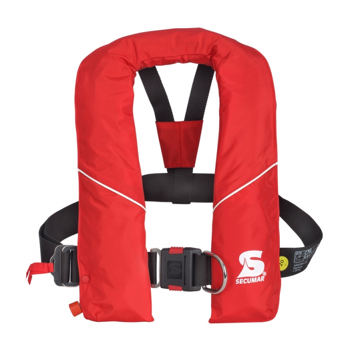 Secumar Arkona 275, rot , Harness ( Lifebelt ) , mit Klickverschluss und Schrittgurt