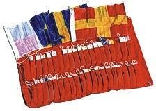 Signalflaggensatz, 20 x 30 cm