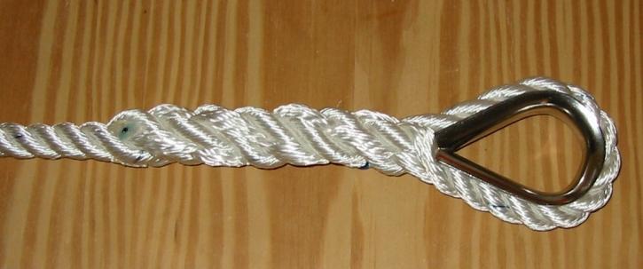 Kauschspleiß in geschlagenem Tauwerk - bis 14 mm