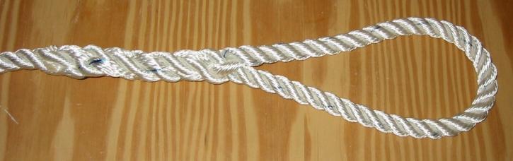 Augspleiß in geschlagenes Tauwerk - bis 14 mm