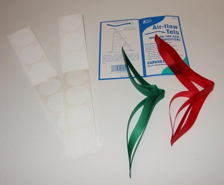 Trimmstreifen aus Spituch , 7 Paar ( 7 x rot und 7 x grün )