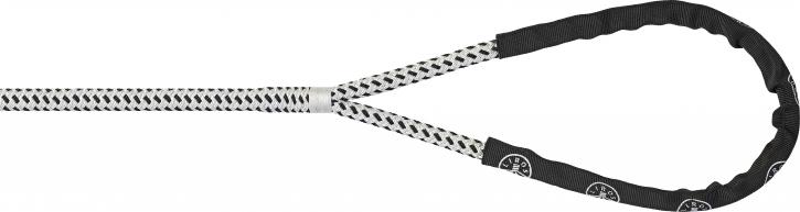 LIROS Porto Festmacher mit Auge , weiss / schwarz , 10mm x 6 mtr