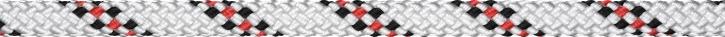 Liros Handy Elastic , 12 mm , Bruchlast : 3700 daN , weiss - schwarz - rot
