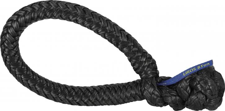 LIROS-XTR Soft Schäkel , BRL : 1 t , schwarz