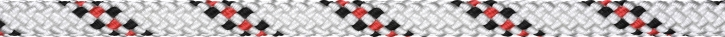Liros Handy Elastic , 8 mm , Bruchlast : 1600 daN , weiss KF rot / schwarz