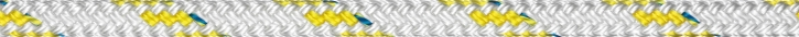 Liros Top Cruising Schot , 16 mm , weiß KF gelb , BRL : 5000 daN