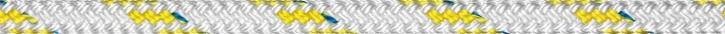 Liros Top Cruising Schot , 8 mm , weiß KF gelb , BRL : 1650 daN