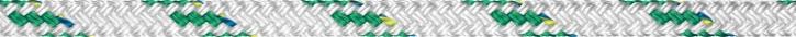 Liros Top Cruising Schot , 16 mm , weiß KF grün , BRL : 5000 daN