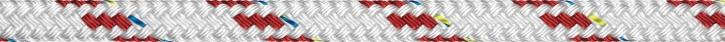 Liros Top Cruising Schot , 7 mm , weiß KF rot , BRL : 1300 daN