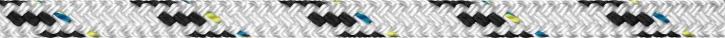 Liros Top Cruising Schot , 16 mm , weiß KF schwarz , BRL : 5000 daN