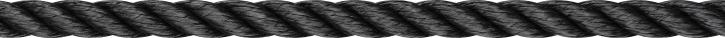 LIROS Lirolen-Tauwerk , schwimmfähig , 14 mm , schwarz