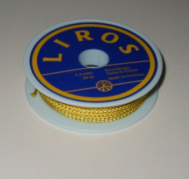 Liros Takelgarn , 1,5 mm x 20 mtr., gelb