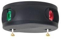Aquasignal Positionslaterne Serie 34, doppelfarbig , schwarzes Gehäuse