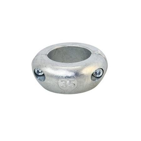 Wellen-Anoden, kurz, leicht , Zink , 25 mm ,