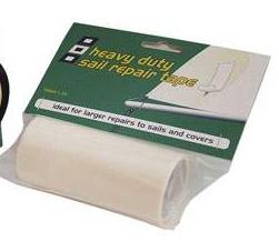 Segelreparatur Tape 100 mm x 2,0 mtr, Polyamid , weiß
