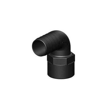"""TRUDESIGN Schlauchtüllen, 90° Winkel mit Innengewinde, aus Kunststoff, schwarz, 3/4"""""""