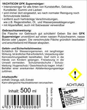 Yachticon GFK Super Reiniger, 500 ml
