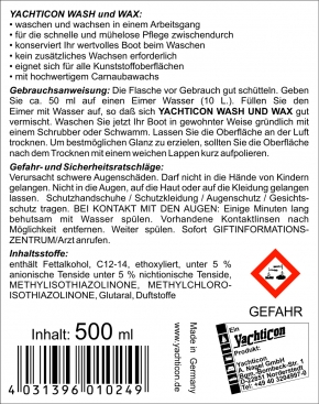 Yachticon Wash und Wax, 500 ml