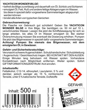Yachticon Wonder Bilge, Bilgen Reiniger, 500 ml
