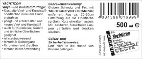 Yachticon Vinyl- und Kunststoffpflege , 500 ml
