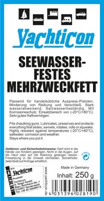Yachticon Seewasserbeständiges Mehrzweckfett , 250 gr. Kartusche