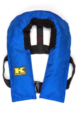 Kadematic 15 AL Junior, blau, mit Harness ( Lifebelt ) und Schrittgurt