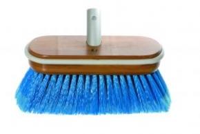 Yachticon Bürste Deluxe , mittelhart,  blau , mit Wasserdurchlauf