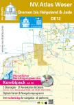 nv-charts Serie 12, Die Weser, Bremen bis Helgoland & Jade Ausgabe 2018 als Atlas