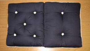 Kapokkissen doppelt , navyblau (dunkelblau)