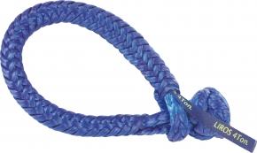 LIROS-XTR Soft Schäkel ,  BRL : 4 t , blau