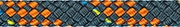 Liros Regatta 2000, 6 mm , BRL : 2200 daN , stahlblau - orange