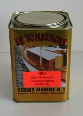 Le Tonkinois, Marine Klarlack No 1, 1,0 ltr. mit zusätzlich verstärktem UV-Schutz