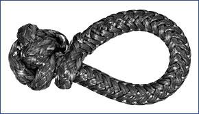 LIROS-XTR Soft Schäkel ,  BRL : 1,5 t , schwarz