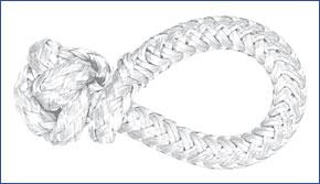 LIROS-XTR Soft Schäkel , BRL : 1 t , weiß