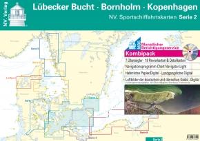 NV Sportschiffahrtskarten Ostsee , Serie 2 - Kombipack Lübecker Bucht - Bornholm - Kopenhagen Edition 2018 als Plano