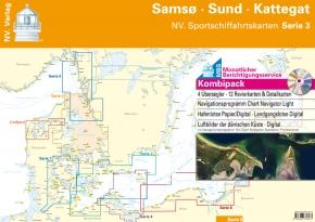 NV. Sportschiffahrtskarten Ostsee Serie 3 Kombipack - Samsö • Sund • Kattegat , 2018 als Plano