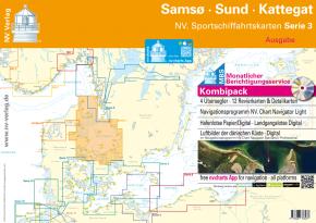 NV. Sportschiffahrtskarten Ostsee Serie 3 Kombipack - Samsö • Sund • Kattegat , 2019 als Plano