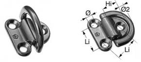 Wichard Decksauge , klappbar , BRL 3000 kg , 8 mm Bügel