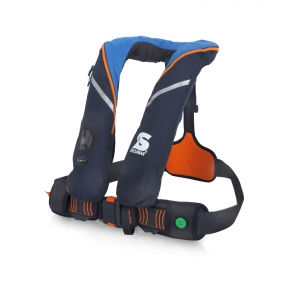Secumar SURVIVAL 220, hellblau / blau / orange,  Harness, Click 50, 4001S, CO2-Dock 43 g