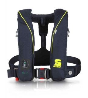 Secumar SURVIVAL 275 DUO PROTECT, Blau/Neongelb, Harness, Click 50, 4001S, CO2-Dock 60 g