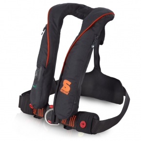 Secumar SURVIVAL 220 Harness , schwarz - orange, Click 50, 4001S, CO2-Dock 43 g