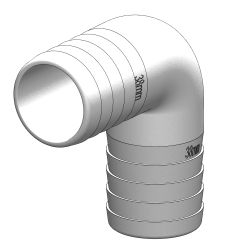 TruDesign 90° Schlauchverbinder aus widerstandsfähigem Komposit Material , 19 mm , weiss