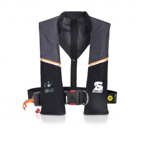 Secumar Ultra 170 Plus Harness ( Lifebelt ), mit Lifebelt, Schrittgurt, Notlicht und Spraycap, grau / schwarz