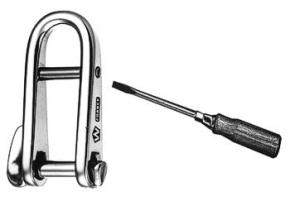 Wichard Schlüsselschäkel mit Schraubsteg , BRL 2200 kg , WL 600 kg