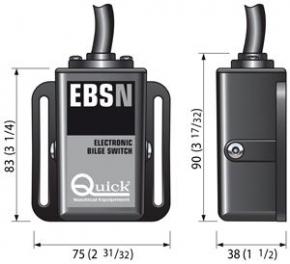 Bilgeschalter , elektronisch , 9 bis 31 Volt , 10 Ampere