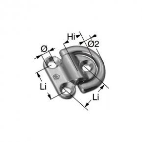 Wichard Decksauge , klappbar , BRL 8000 kg , 10 mm Bügel