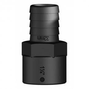 """TRUDESIGN Schlauchtülle, gerade mit Innengewinde, aus Kunststoff, schwarz , 1"""" für Schlauch-Øi  25mm"""